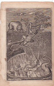 lot de 4 gravures authentiques1655