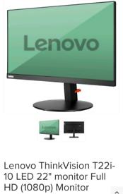 "Lenovo ThinkVision T22i-10 LED 22"" monitor Full HD (1080p) Monitor"