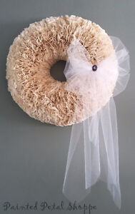 Coffee Filter Wedding Wreath/ Baby Room/ Nursery Decor