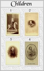 ANTIQUE PHOTOGRAPHS – CARTES DE VISITES & TINTYPE