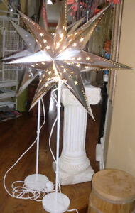 Home decor , Large star shade floor lamps / 30 each