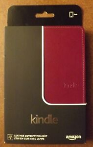 Amazon Kindle Lighted Leather Cover, Wine Purple (does not fit K