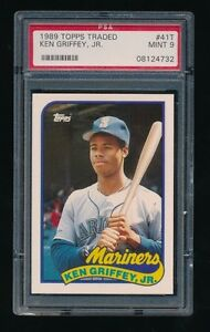 KEN GRIFFEY JR .... 1989 TOPPS TRADED ROOKIE .... MINT 9 (PSA)