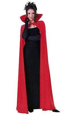 MENS LADIES LONG RED CAPE CLOAK VAMPIRE DRACULA COSTUME HALLOWEEN  XMAS NEW 56IN - Men In Womens Halloween Costumes