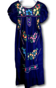 Vintage Mexican embroidered dress for sale Fiesta boho peasant