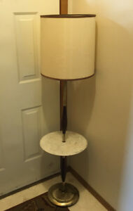 RETRO FLOOR LAMP WITH MARBLE TABLE FIRST 25$ TAKES IT HOME