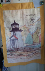 """NEW...NEVER HUNG OUTSIDE FLAG. """"LIGHTHOUSE""""... COULD HANG INSIDE"""