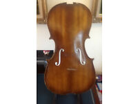 Full size cello top for repair or a decorative piece