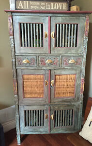 Mexican Hand Carved Hutch