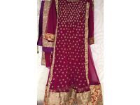 Purple Asian party wear original suit