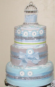 Diaper cakes for boys and girls
