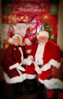 MR.&MRS. CLAUS BY THE HOUR FOR YOUR KIDS PARTY OR SENIOR HOME