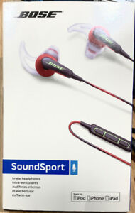 BRAND NEW BOSE SoundSport with Mic (Apple) - RED