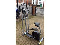 Magnetic 2 in 1 cycle-elliptical trainer/exercise bike