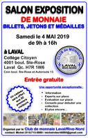 SALON EXPOSITION DE MONNAIE, JETONS ET MÉDAILLES