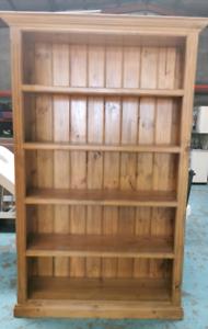 Wooden bookshelf $140
