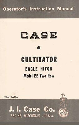Case Cultivator Eagle Hitch Ee Two Row Operators Manual