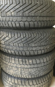 """4 Continental Extreme Winter Contact tires 215/55/17"""""""
