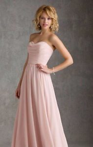 Mori Lee Style #20426 Blush Pink Size S Bridesmaid or Prom dress