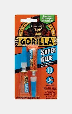 New Gorilla Glue Super Glue .22oz Adhesive Dries Clear High Strength 7800109