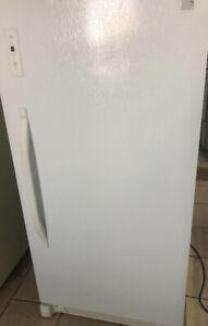 Upright frost free freezer.