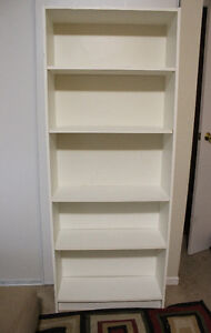 Almost 6 FT White Bookshelf Great Condition