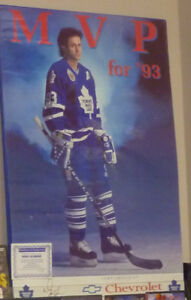 """Reduced: Doug Gilmour """"MVP for '93"""" Signed Poster with COA"""