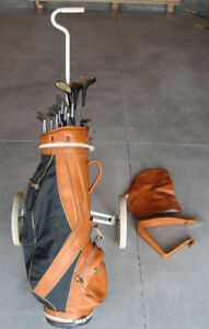 Left Handed Golf Clubs + Bag & Pully
