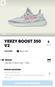 Adidas Yeezy 350 V2 Blue Tint 8US for your size 8.5/9