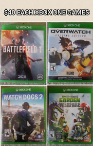 Assorted Xbox One Games ($40 Each)