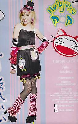 HARAJUKU POP Tween Costume 10-12 Girls Halloween Japanese Style Eccentric NEW