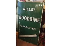 Wills Woodbines Porcelain Sign