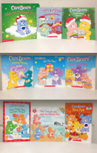 Lot of 9 Care Bears Books for Sale