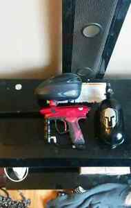 DYE Proto Rail Paintball Marker and Accessories