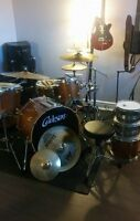 Drum: Custom studio set cymbals, hardware, extras