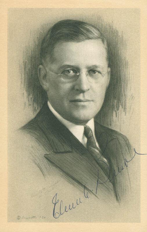ELMER A. BENSON - PRINTED ILLUSTRATION SIGNED IN INK