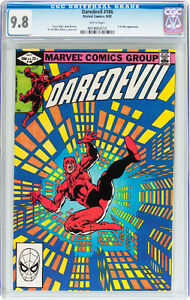 DAREDEVIL 186 CGC GRADED 9.8 STORY AND COVER FRANK MILLER