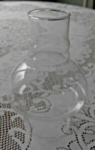 Hurricane Oil Lamp Lantern Glass-Mushroom Slip Shape Chimney