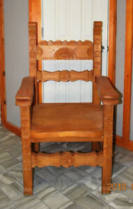 OVER-SIZED  HARDWOOD CHAIR