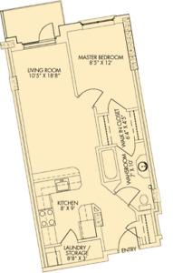 1 Bedroom Apartment for Rent - Barrington Terrace