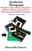 Transfer slides,negs,prints,video tape to DVD