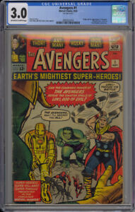 Avengers, Xmen, Fantastic Four, JIM, MSH CGC comic book keys