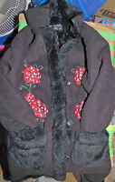 Children`s Place suede/fake fur coat size 5/6