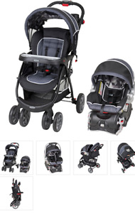 New Baby stroller with car seat and base