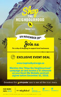 Yellow Pages Shop the Neighbourhood Deal until December 31, 2015