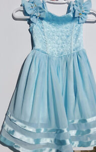 Beautiful Blue Flower Girl Dress For Rent * Calgary Party Rental