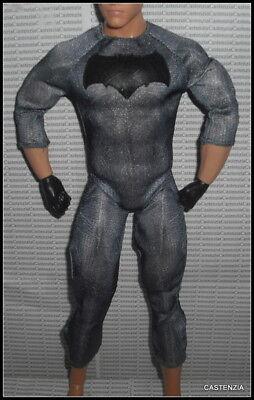 BODYSUIT KEN DOLL MATTEL BATMAN V SUPERMAN BAT UNIFORM SUIT UNIFORM CHEST PLATE - Batman V Superman Suit