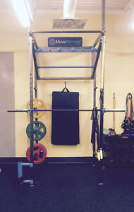 Commercial Movestrong Squat Rack with 2 Medicine Ball Targets