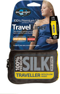 Silk travel liner for sleeping bag or bed