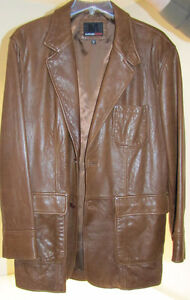 LIKE NEW - Men's Murano Sport leather casual jacket Kawartha Lakes Peterborough Area image 1